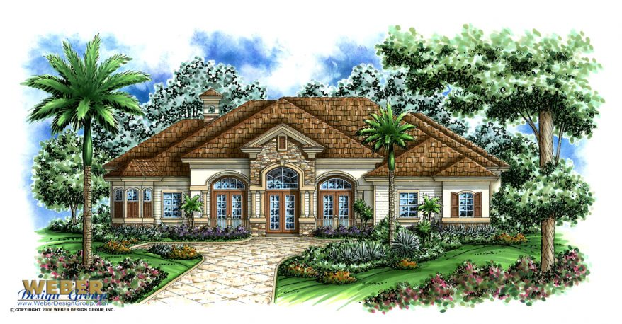 Mediterranean house plan transitional home floor plan for Sterling house