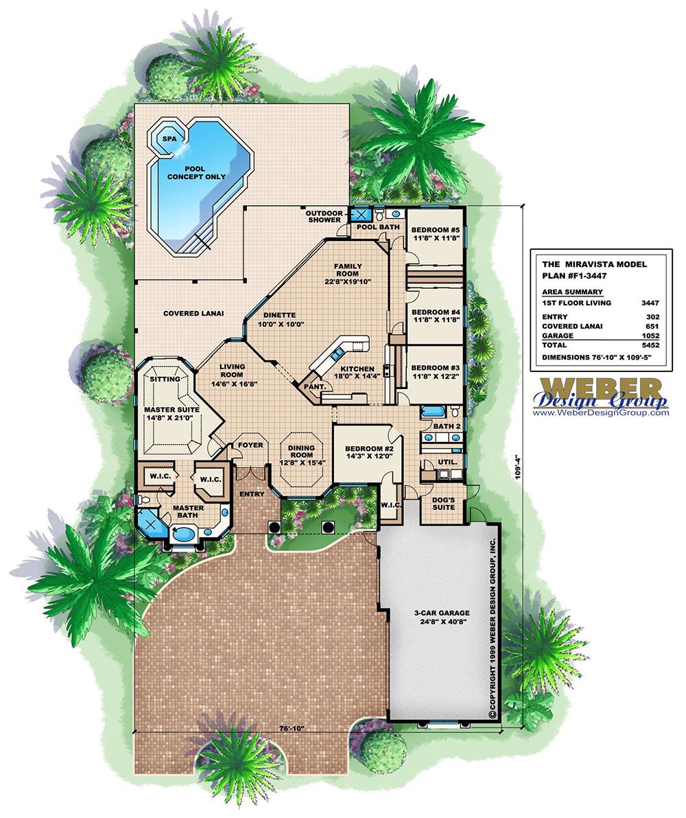 Miravista Home Plan Weber Design Group Naples Fl