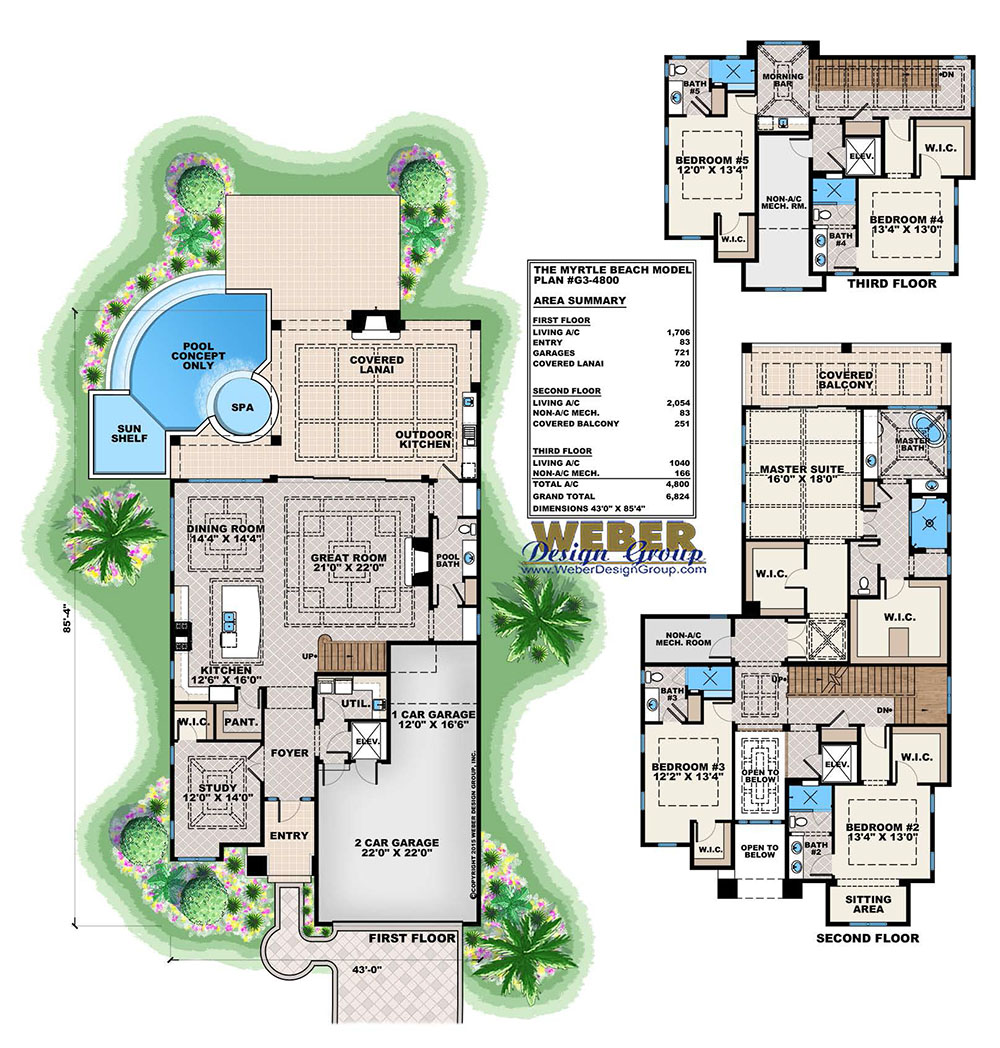 Caribbean House Plans: Tropical Island