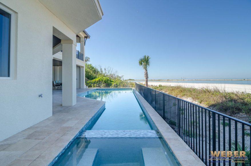 Beach house plan caribbean beach home floor plan 3 story for Oceanside house plans