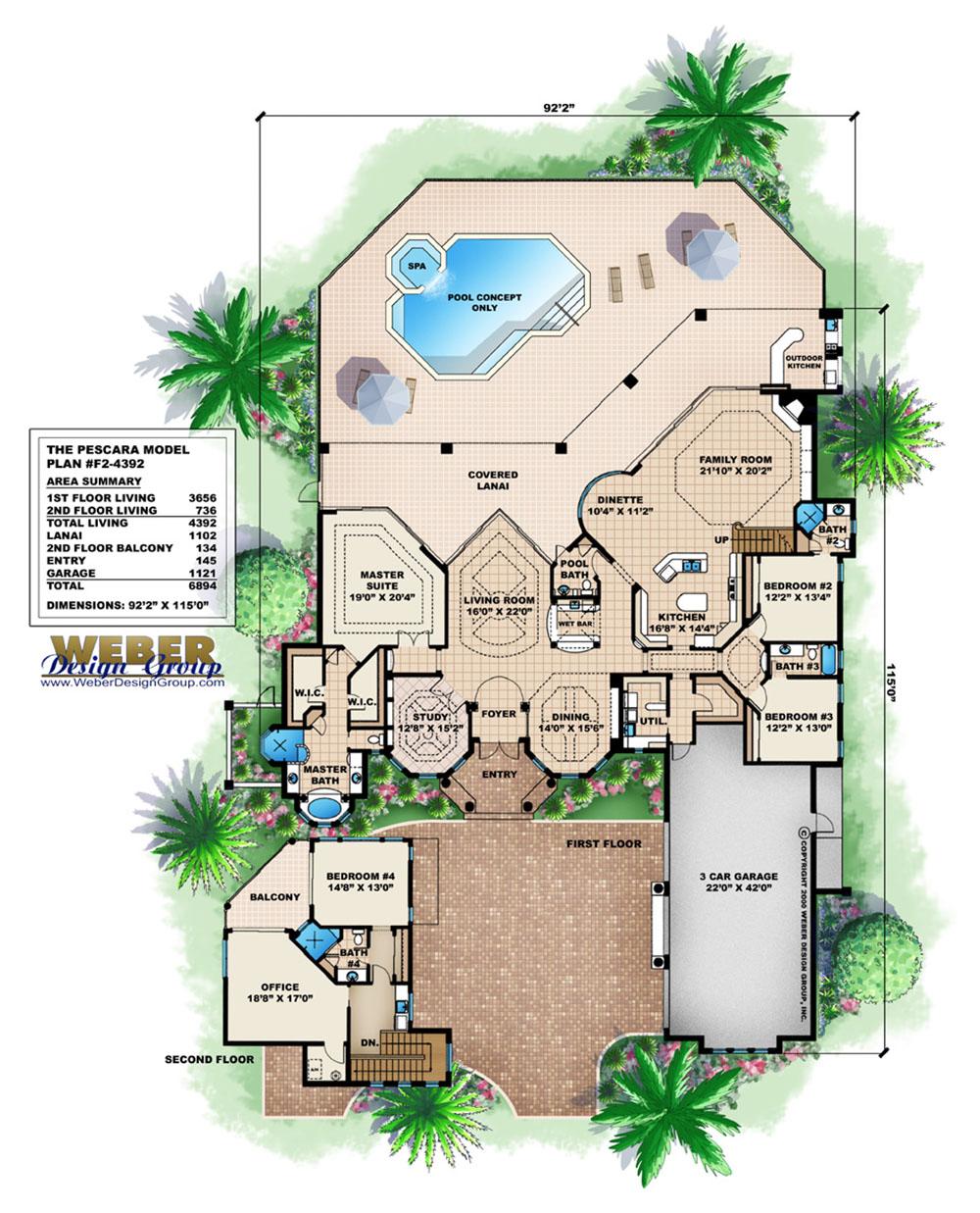 Lanai House Plans House Plans