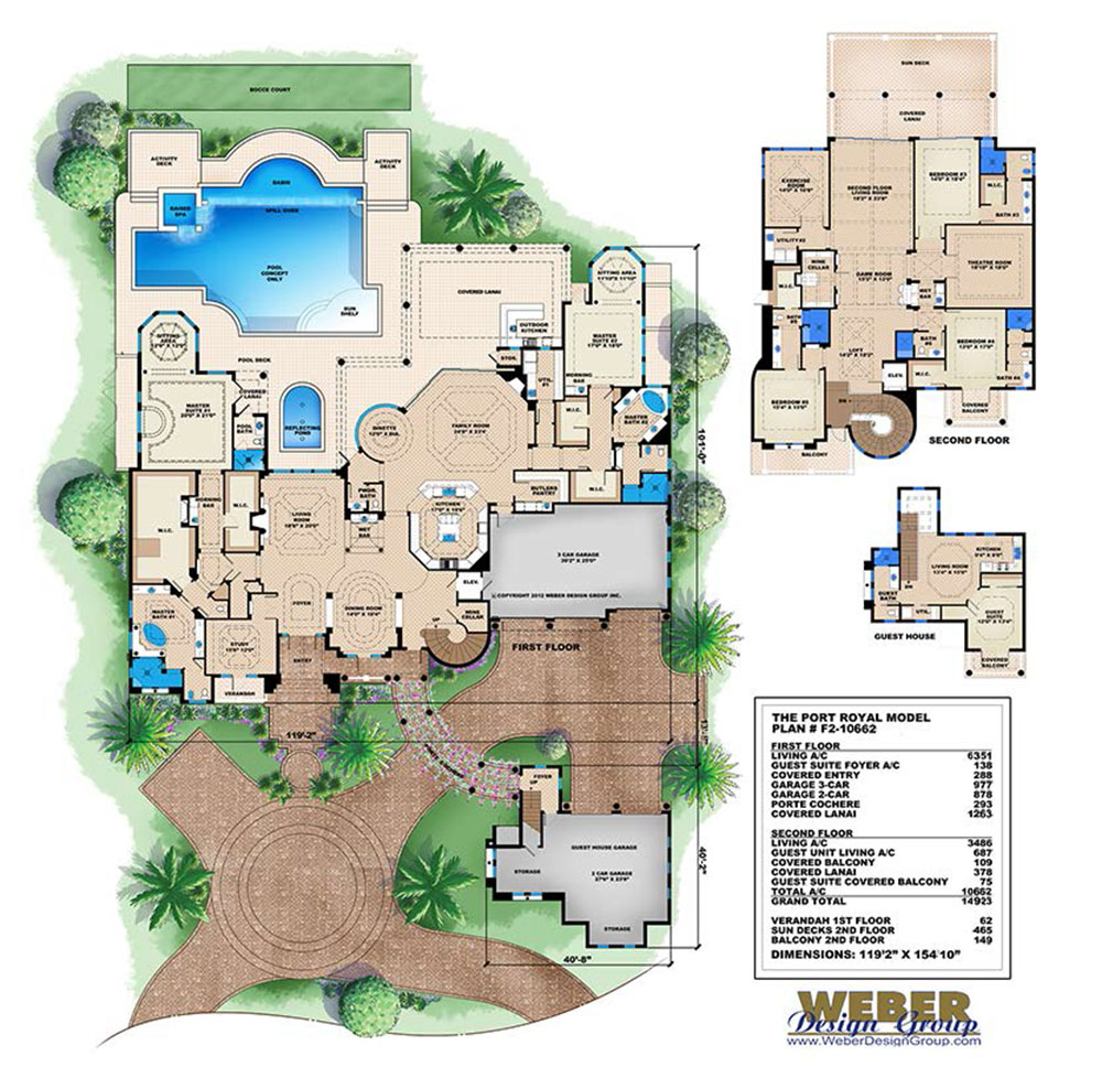 2 Story House Plan Luxury 10000 Sqft Tuscan Mansion 5