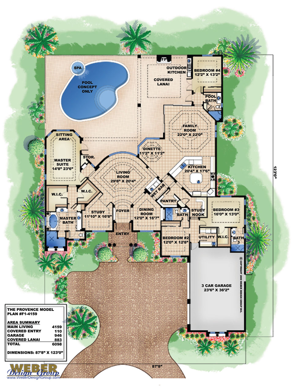 Mar a lago house plan weber design group for Weber house plans