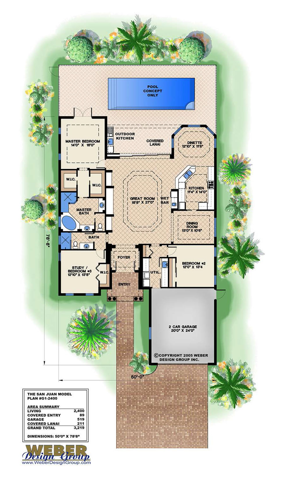 San juan house plan weber design group naples fl for Weber house plans