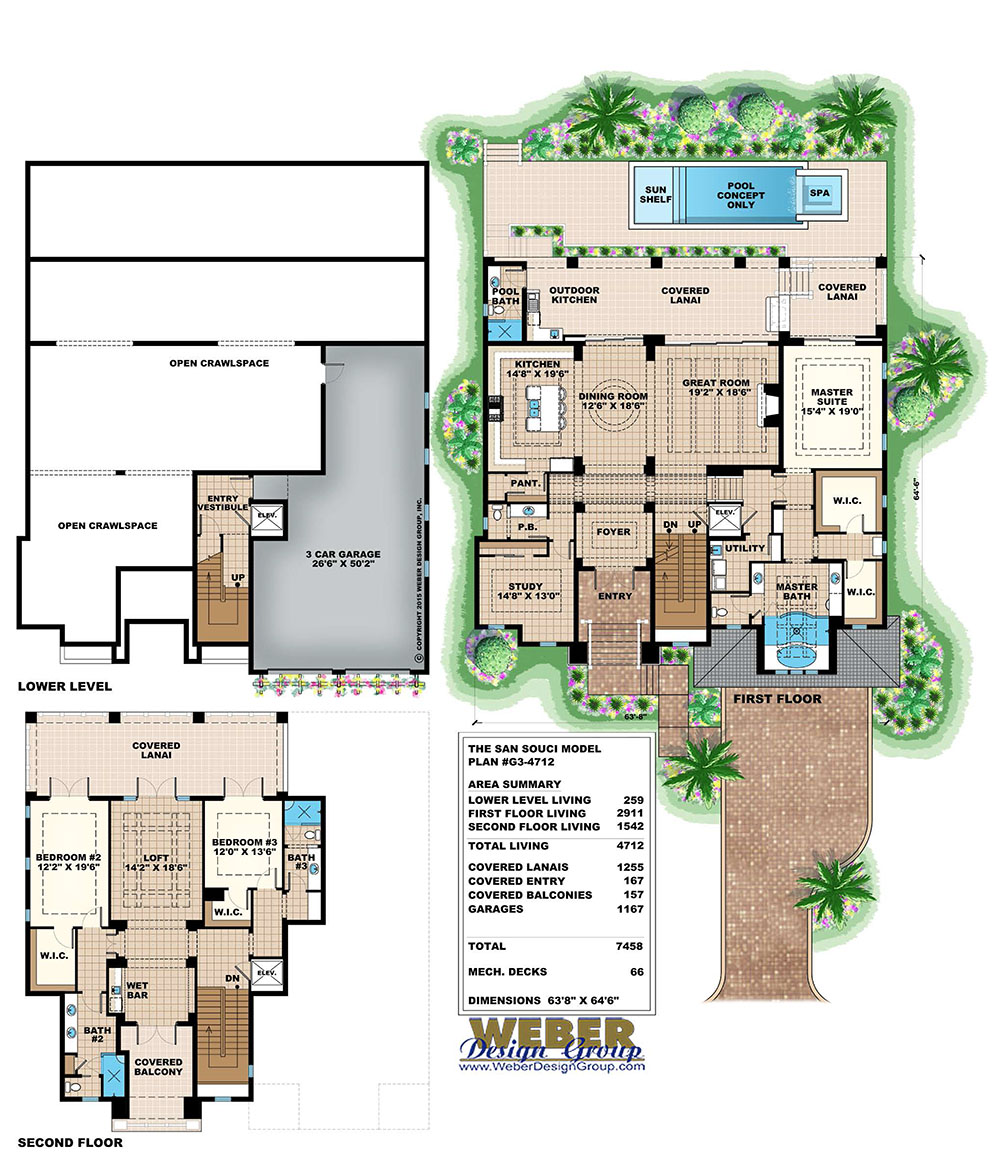 Tidewater home plan weber design group for Weber house plans
