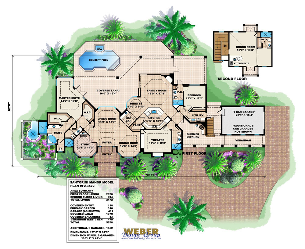Mediterranean house plan mediterranean tuscan style home for Weber design