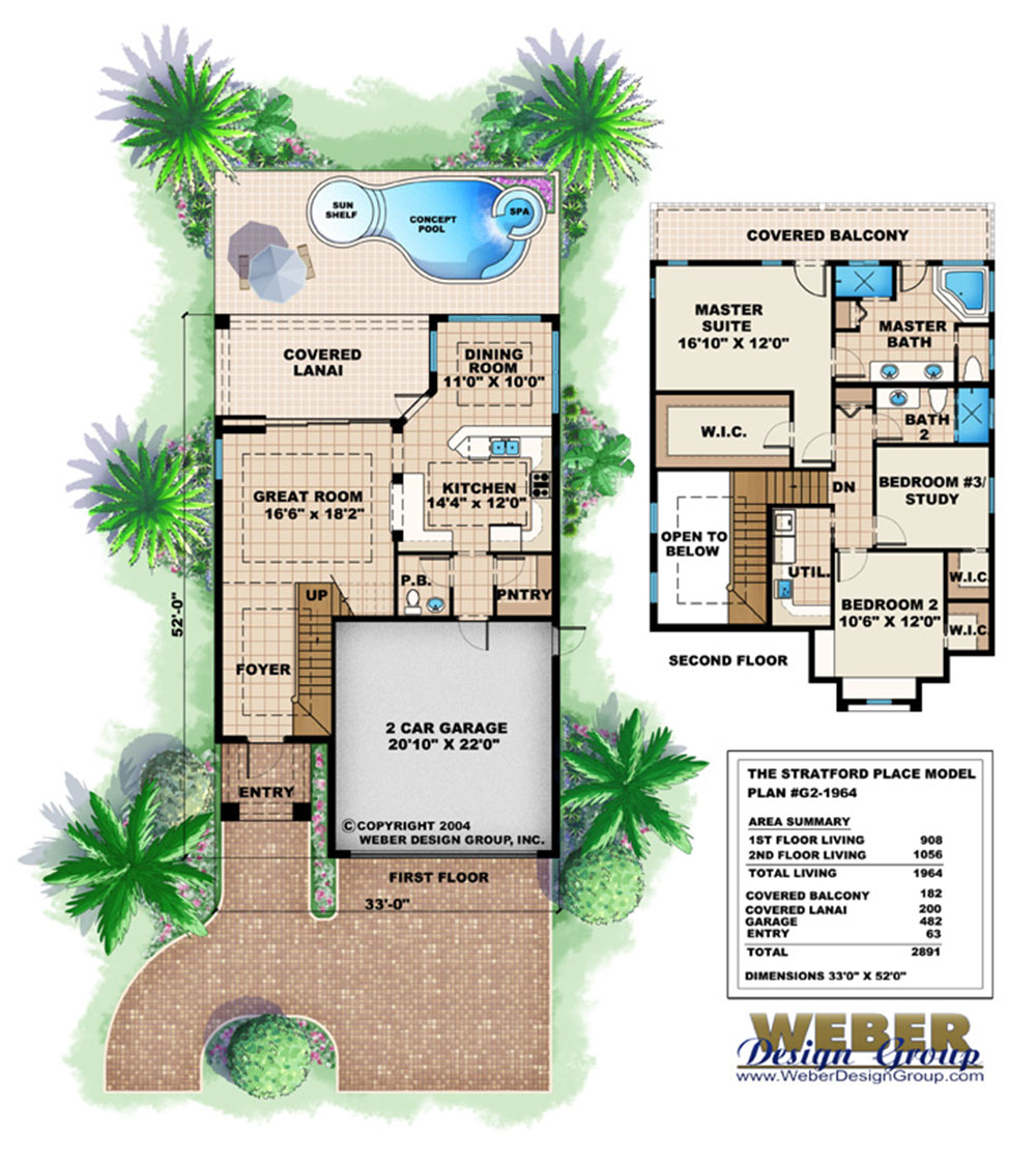 california house plans, stock home plans, california cabana style