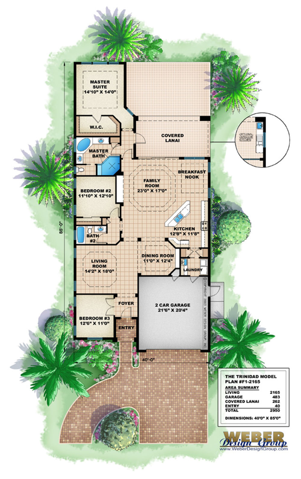 Trinidad house plan weber design group naples fl House plans for golf course lots