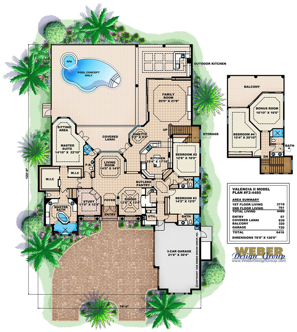 Mediterranean Home Floor Plans: Mediterranean House Plan: Tuscan Coastal Contemporary
