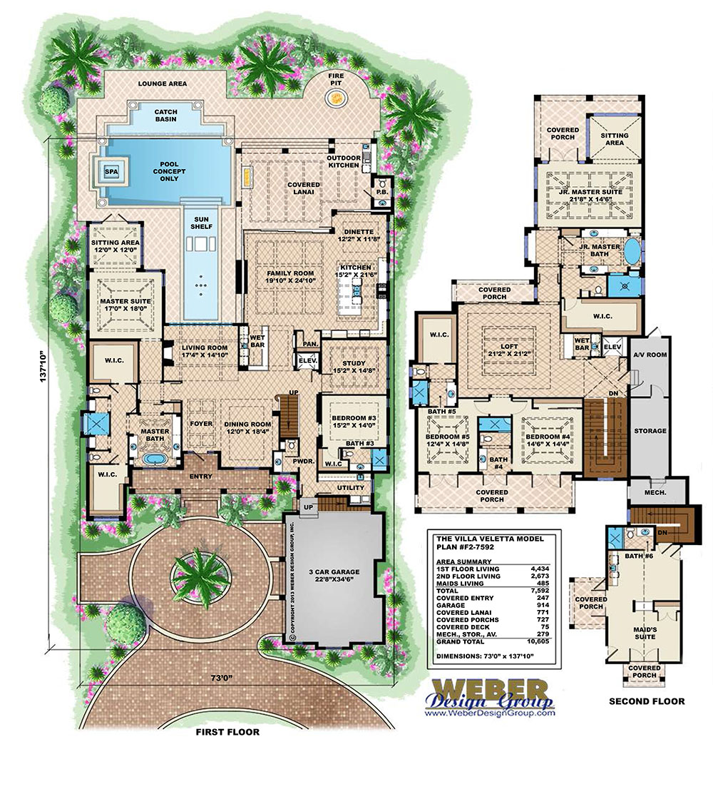 Contemporary West In s House Plan Villa Veletta House Plan 2