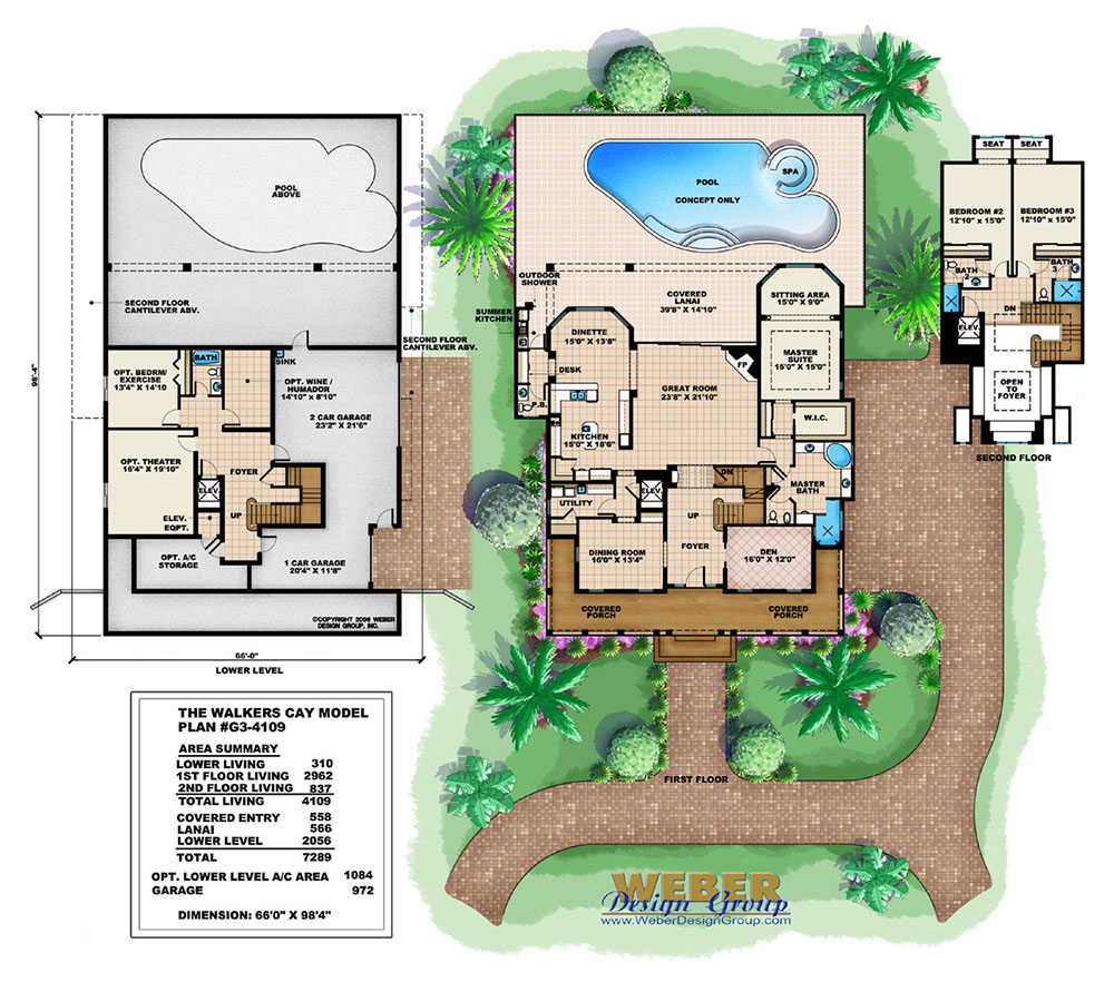 Barbados House Plan Weber Design Group