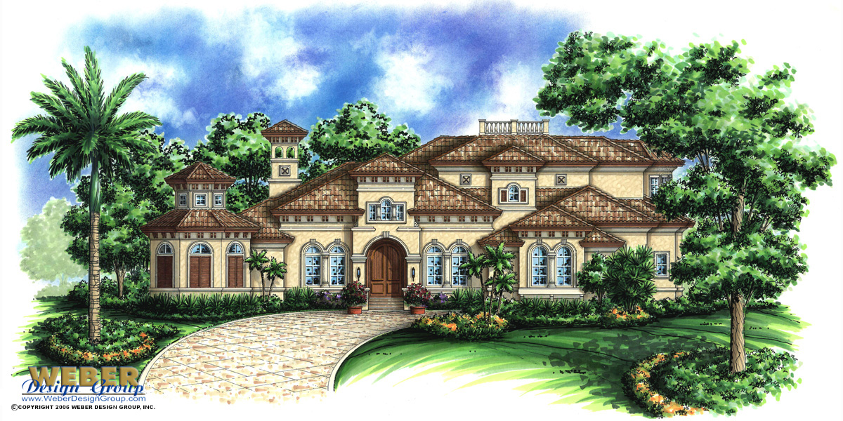Beach house plan 2 story mediterranean waterfront home for Weber designs