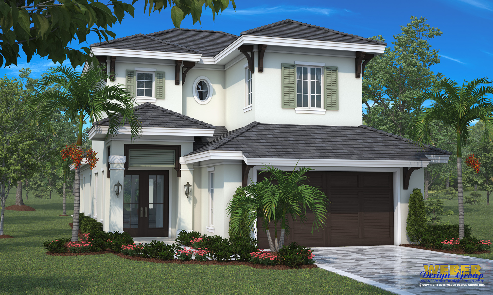 Superb The St. John House Plan Is Ideal For A Narrow Lot. The Floor Plan Is  Two Stories With An Open Layout Where The Great Room, Island Kitchen And  Dining Room ...