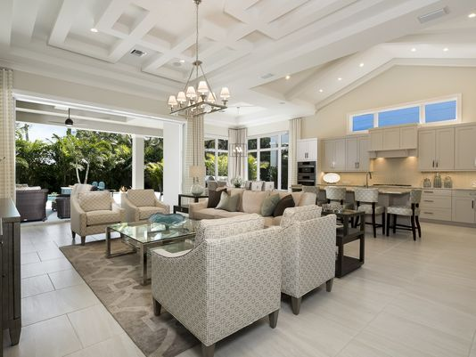 seagate interior view of great room kitchen overlooking outdoor living