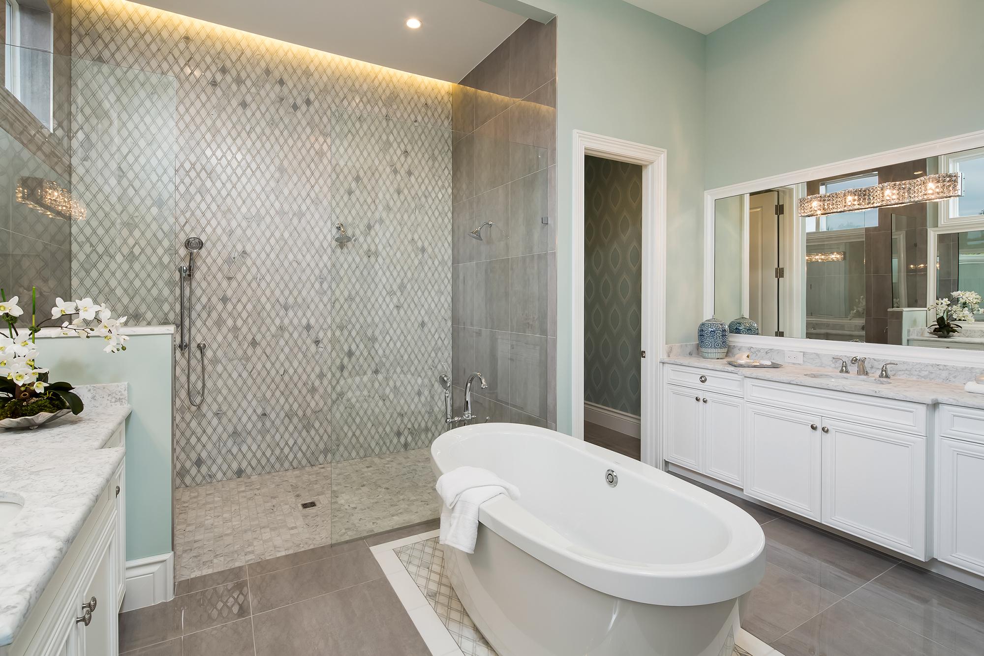 naples master bath design