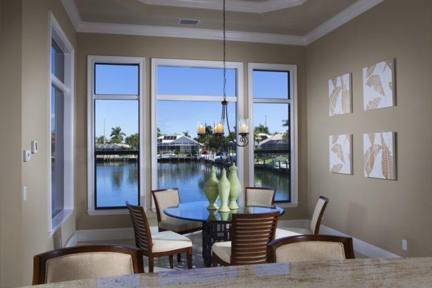 breakfast nook design example waterfront view
