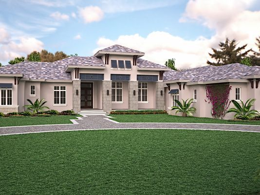 In the News:  Weber designed McGarvey constructed Beechwood Model nearing completion in Quail West
