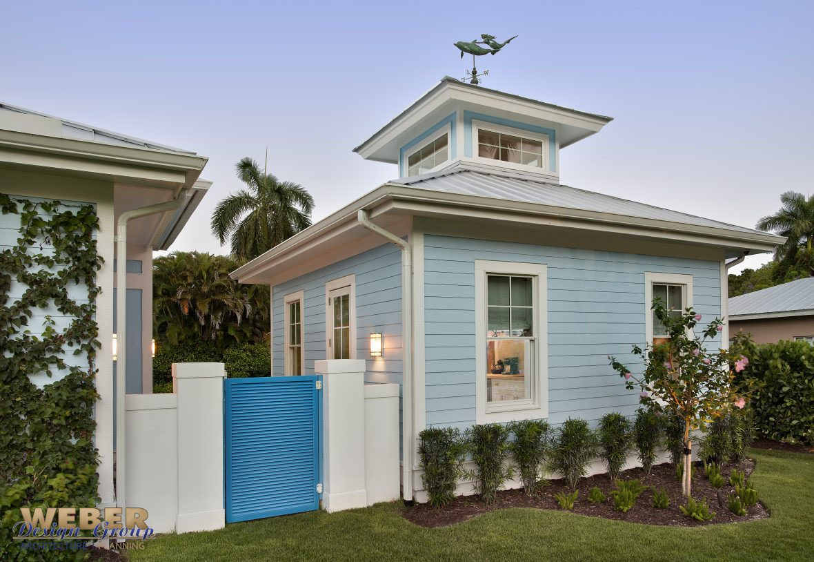 Coastal Contemporary Cottage With A Courtyard Designed